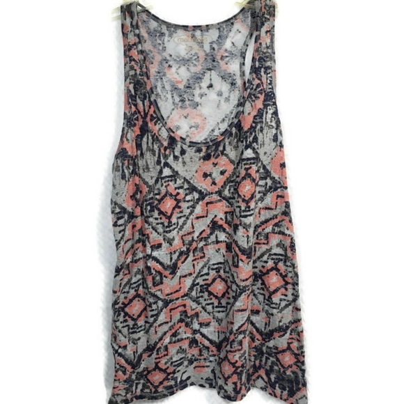 Maurices Sheer Tribal Tank Top Large